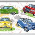 雑誌からスケッチ-自動車