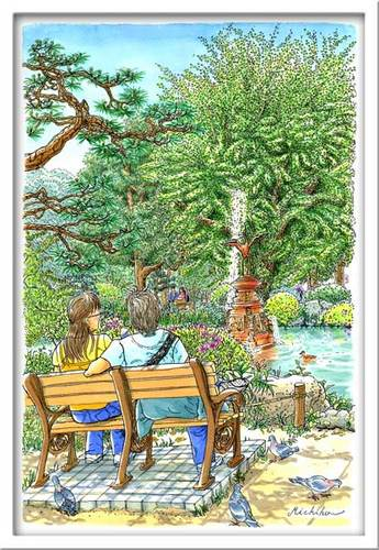 雲形池の緑・日比谷公園