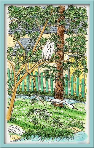 フォレストビラの白鷺